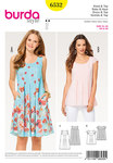 Burda 6532. Dress, Loose Dress, Top, Yoke.