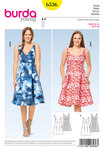 Burda 6536. Dress, Strap Dress, High Waist.