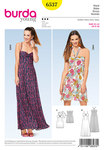 Burda 6537. Dress, Strap Dress, Halter Neck Dress, Spaghetti Straps.