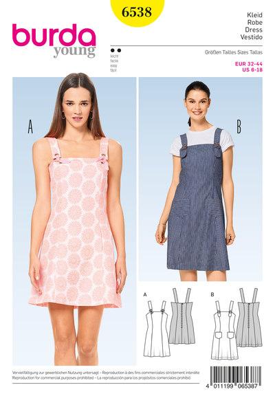Dress –Strap Dress, Panel Seams