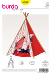 Burda 6559. Tent, Indian Tipi, Tipi, Cushions.