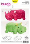 Stuffed Animals, Hippo, Rhino, XXL-Stuffed Animal