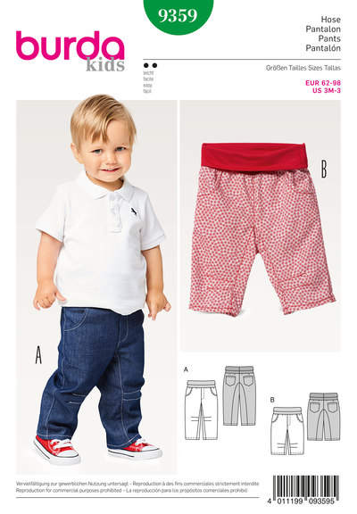 Pants/Trousers – Hip Yoke Pockets, Elastic Waistband