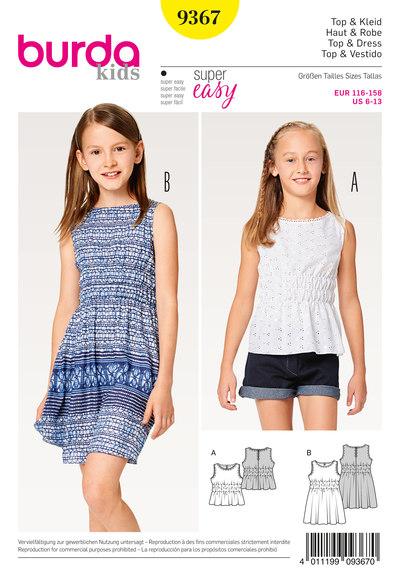 Top, Dress, Elastic Shirring