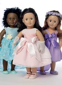 Butterick pattern: Special Occasion Dresses, Bag, Gloves, and Headpiece for 18andquot; Doll
