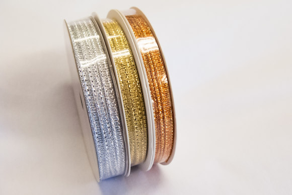 3mm silver, gold or copper ribbon - 10metres