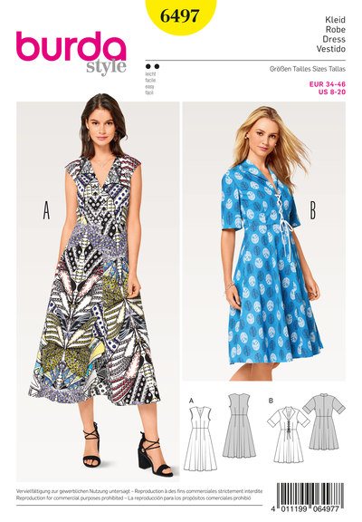 Dress, V-Neck, Spade Collar