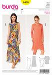 Burda 6498. Dress, Two Layered, Wrap Look.