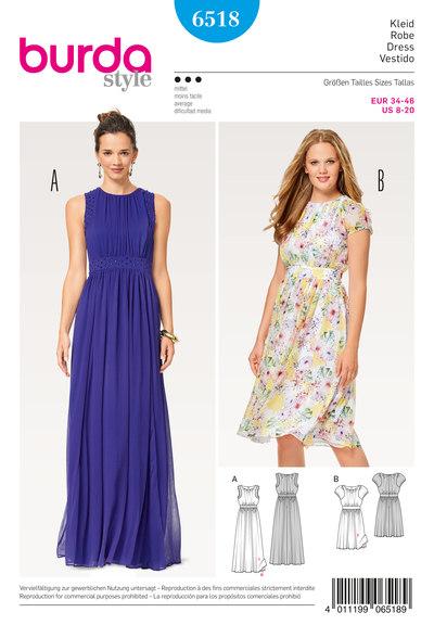 Dress, Evening Dress, Two-Layered, Waistband