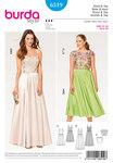 Burda 6519. Strap Dress, Lace Top.