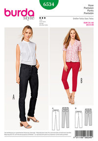 Pants/Trousers, Jeans, 3/4-Pants. Burda 6534.