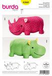 Stuffed Animals, Hippo, Rhino, XXL-Stuffed Animal