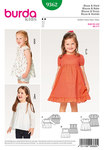 Burda 9362. Blouse,  Dress, Pinafore, Gathered Skirt, Hem Frill.