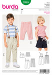 Burda 9365. Pleated Trousers with Elastic Waistband , Suspenders, Shorts.