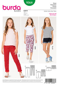 Pants/Trousers, Jeans, Shorts, 3/4-Pants/Trousers. Burda 9368.