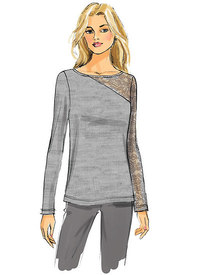 Butterick 6418. Knit, Lace-Detail Tops.