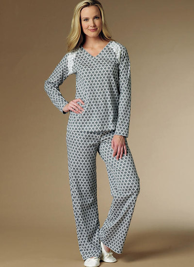 Robe, Raglan Sleeve Tops and Gown, and Pull-On Pants