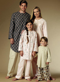 Buttoned Tunic and Pull-On Pants for the family. Butterick 6429.