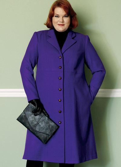 Empire-Waist Coat with Princess Seams