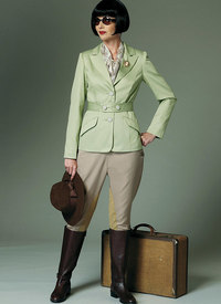 Banded Jacket, Jodphurs, and Breeches. Butterick 6433.
