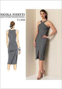 Criss-Cross Strap Dress - Nicola Finetti. Vogue 1498.