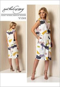 Mock-Tuck Pleated Dress - Rachel Comey. Vogue 1501.