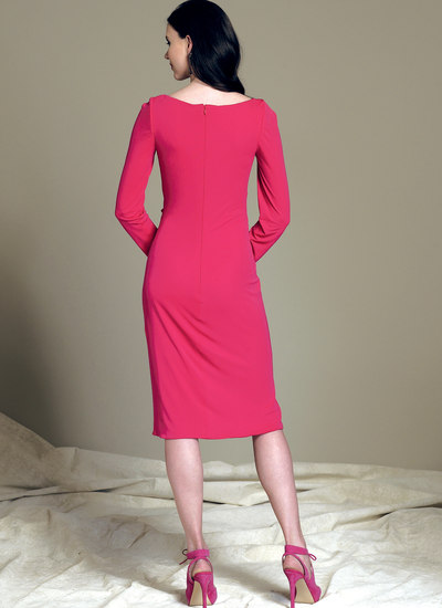 Mock-Wrap Cutout Dress - Bellville Sassoon