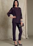 Batwing or Layered-Overlay Tops, Pencil Skirt and Pants - Tom and Linda Platt