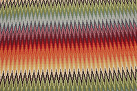 Beautiful opholstry fabric with across-zigzag stripes in multicolors