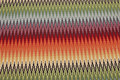 Beautiful opholstry fabric with across-zigzag stripes in multicolors.