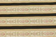 Biedermeier furniture fabric with black stripe