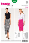 Burda 6506. Narrow Skirt, Wrap Look –Shaped Waistband.