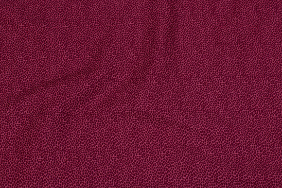 Cherry-red cotton with dark mini-leaves