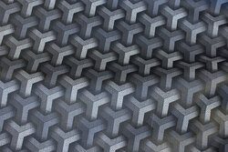 Coated fabric in grey nuances