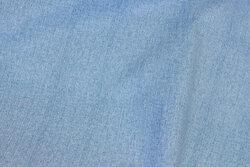 Coated fabric in light blue denim-look