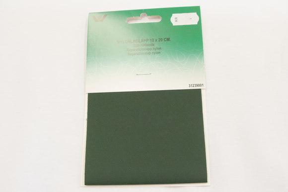 Dark green nylon repair patch 10 x 20 cm