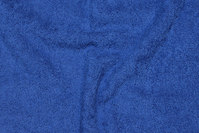 Double-woven, cobolt-blue terry cloth