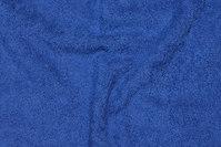 Double-woven, cobolt-blue terry cloth