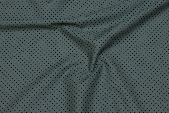 Dusty-green cotton with 1 mm black dot