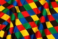 Harlekin satin 6 cm checkers in strong colors