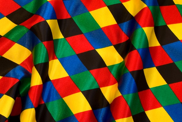 Harlekin satin 6cm checkers in strong colors
