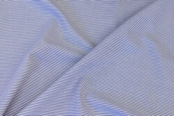 Light cotton-poplin in narrow-striped blue and white