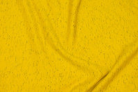 Lightweight, softened winter-sweatshirt-fabric in speckled yellow