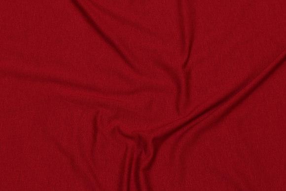 Lightweight viscose-jersey in winter-red