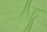 Lime-green patchwork-cotton with small pattern