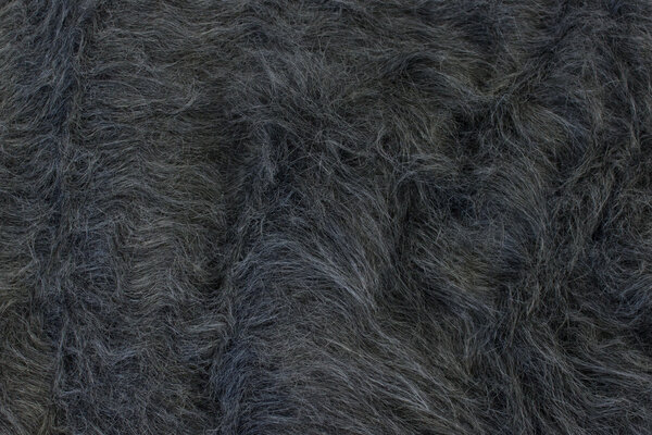 Long-haired fake-fur-fabric in dark speckled grey