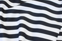 Medium-thickness cotton-twill with black and white 2½ cm stripes