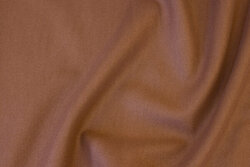 Nougat-colored coat-fabric in polyester with wool-look