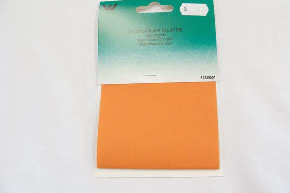 Orange nylon repair patch 10 x 20 cm