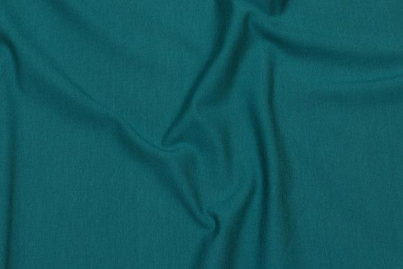 Blue-petrol-colored cotton-jersey